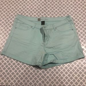 Mossimo teal jean shorts.